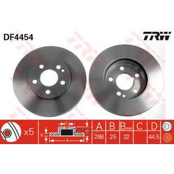 Тормозной диск (TRW/Lucas) DF4454