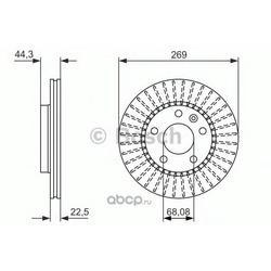 Тормозной диск (Bosch) 0986479779