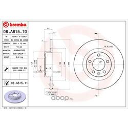 Тормозной диск (Brembo) 08A61511