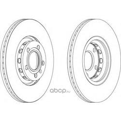 Тормозной диск (Ferodo) DDF1707