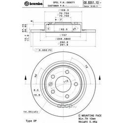 Тормозной диск (Brembo) 08B35111