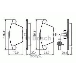 Комплект тормозных колодок, дисковый тормоз (Bosch) 0986494283
