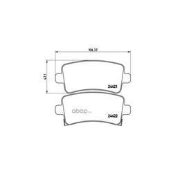 Комплект тормозных колодок, дисковый тормоз (Brembo) P59060