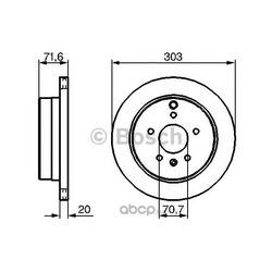 Тормозной диск (Bosch) 0986479268