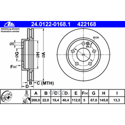 Тормозной диск (Ate) 24012201681