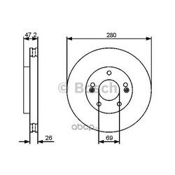 Тормозной диск (Bosch) 0986479460