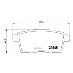 Комплект тормозных колодок, дисковый тормоз (Brembo) P49041