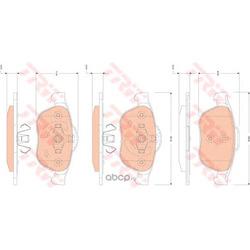Комплект тормозных колодок, дисковый тормоз (TRW/Lucas) GDB1823