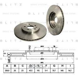Диск тормозной (Blitz) BS0311