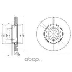 Тормозной диск (Delphi) BG3833