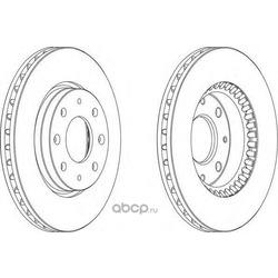 Тормозной диск (Ferodo) DDF1528