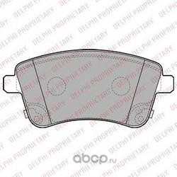 Комплект тормозных колодок, дисковый тормоз (Delphi) LP2203