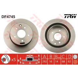 Диск тормозной вентилируемый (TRW/Lucas) DF4745