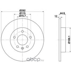 Тормозной диск (Mintex) MDC2134