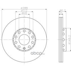 Тормозной диск (Hella) 8DD355102821