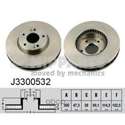 Тормозной диск (Nipparts) J3300532
