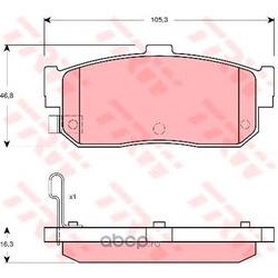 Комплект тормозных колодок, дисковый тормоз (TRW/Lucas) GDB3274