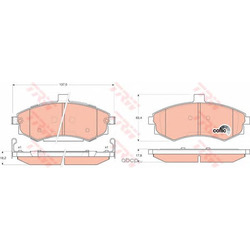 Колодки тормозные передние (TRW/Lucas) GDB3378