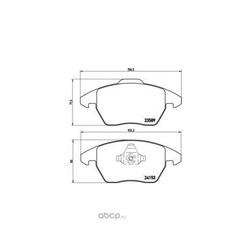 Колодки тормозные дисковые передние, комплект (Brembo) P61076