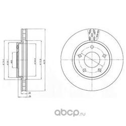 Тормозной диск (Delphi) BG4258