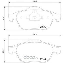 Колодки тормозные дисковые TEXTAR (Textar) 2453601