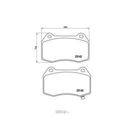 Комплект тормозных колодок, дисковый тормоз (Brembo) P56047