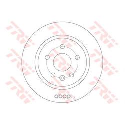 Тормозной диск (TRW/Lucas) DF6340
