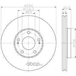 Тормозной диск (Hella) 8DD355111571