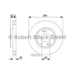 Диск тормозной вентилируемый (Bosch) 0986479368