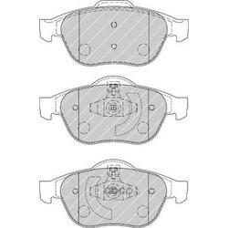 Комплект тормозных колодок, дисковый тормоз (Ferodo) FDB1865