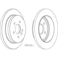 Тормозной диск (Ferodo) DDF1037