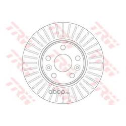 Тормозной диск (TRW/Lucas) DF6448