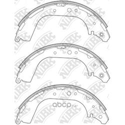 Колодки тормозные барабанные (NiBK) FN1189