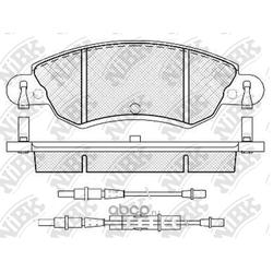 Колодки тормозные дисковые с датчиком износа (NiBK) PN0183W