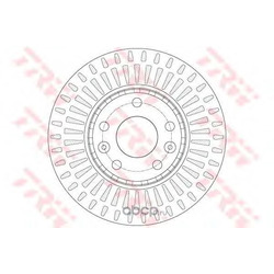 Тормозной диск (TRW/Lucas) DF6184