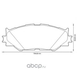 Комплект тормозных колодок, дисковый тормоз (Jurid) 572620J
