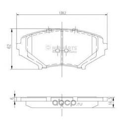Комплект тормозных колодок, дисковый тормоз (Nipparts) J3603066