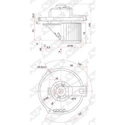 Мотор отопителя салона (Sat) ST8710312050