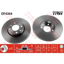 Диск тормозной вентилируемый (TRW/Lucas) DF4364