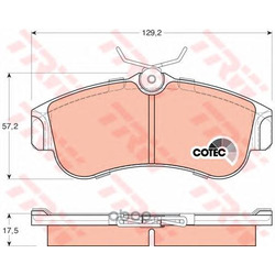 Комплект тормозных колодок, дисковый тормоз (TRW/Lucas) GDB848