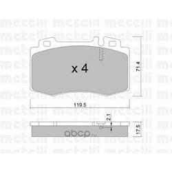 Комплект тормозных колодок, дисковый тормоз (Metelli) 2205630