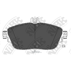 Колодки тормозные дисковые (NiBK) PN31009