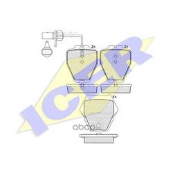 Комплект тормозных колодок, дисковый тормоз (Icer) 181571