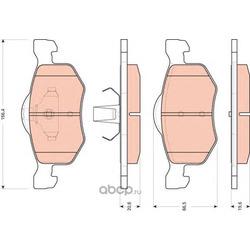 Комплект тормозных колодок, дисковый тормоз (TRW/Lucas) GDB1753