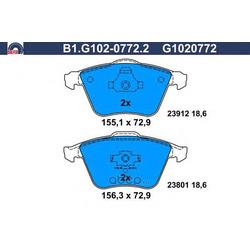 Комплект тормозных колодок (GALFER) B1G10207722