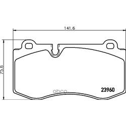 Комплект тормозных колодок, дисковый тормоз (Hella) 8DB355011401