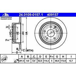 Тормозной диск (Ate) 24010901571