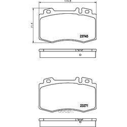 Комплект тормозных колодок, дисковый тормоз (Hella) 8DB355010101