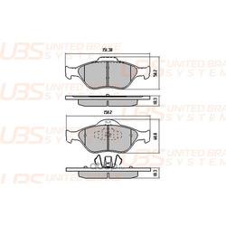 Комплект тормозных колодок, дисковый тормоз (UBS) BP1101003