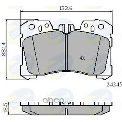 Комплект тормозных колодок, дисковый тормоз (Comline) CBP01733